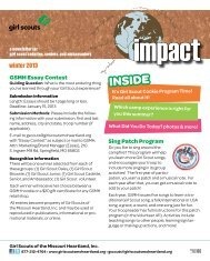 impact - for Girl Scout cadettes, seniors, and ambassadors