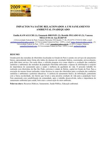 03 Ilha_artigo_IVConnepi02_Emilia - IV CONNEPI 2009 - IFPA
