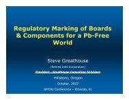 Regulatory Marking of Boards & Components for a Pb-Free ... - SMTA