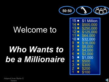 Welcome to Who Wants to be a Millionaire - AAEGT