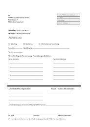 Anmeldung mit Teilnahmebedingungen - VOMATEC