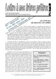 LE CONCILE QUARANTE ANS APRES Sommaire - La Porte Latine