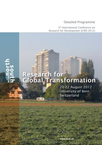 Detailed Programme - ICRD 2012 - International Conference on ...