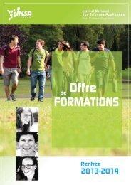 Livret Offre de formations 2013-2014 - INSA Rennes