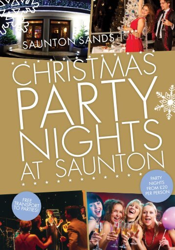 To view a copy of our Christmas Party Brochure click here