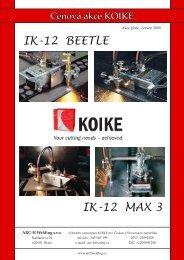 IK-12 BEETLE IK-12 MAX 3 - ARC-H Welding sro
