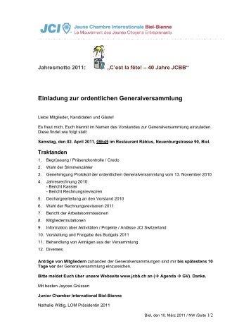 Details [pdf] - Junior Chamber Biel-Bienne