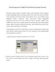 Tutorial penggunaan Look@LAN untuk Monitoring Jaringan Komputer