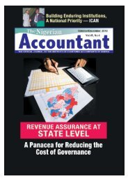 The Nigerian Accountant 2012 October/December Edition
