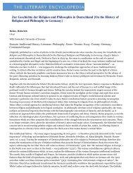 Zur Geschichte der Religion und Philosophie in Deutschland [On the ...