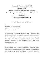 Chers compatriotes, - Consulat général de France à Hong Kong et ...