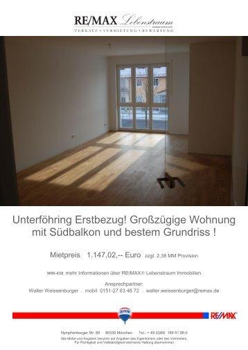 Großzügige Wohnung mit Südbalkon und bestem Grundriss - indiwan