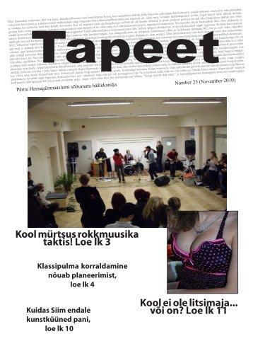 November 2010 - Pärnu Hansagümnaasiumi avaleht