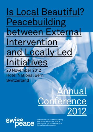 Conference Program - Swisspeace