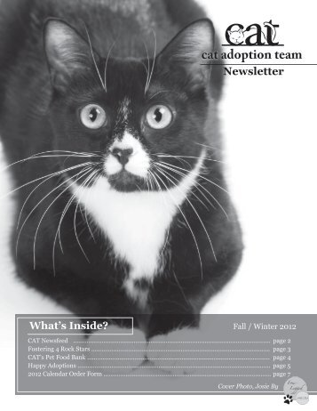 Fall /Winter 2012 (pdf) - Cat Adoption Team