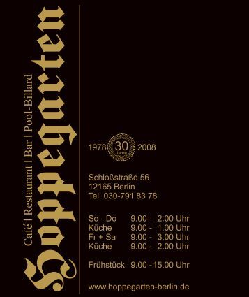 Zur Information - Hoppegarten