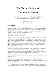 The Natzari Yeshua Vs. The Kairite Yeshua