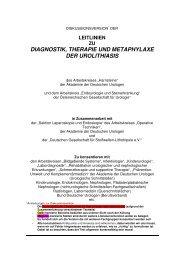 leitlinien zu diagnostik, therapie und metaphylaxe ... - Urologenportal