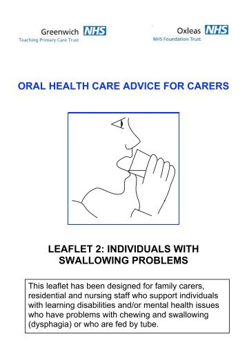 oral health care advice for carers leaflet 2: individuals ... - Netbuddy