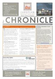 January 2003 - European Association of Historic Towns & Regions