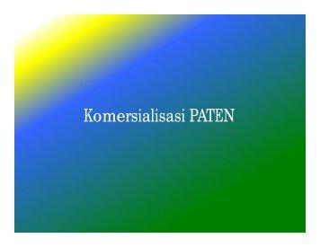 Komersialisasi PATEN - Indonesia Kreatif