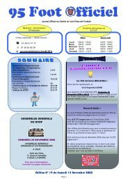 1ère page journal 95 FOOT n°19 - Footeo