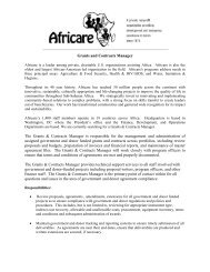 Grants and Contracts Manager The Grants & Contracts ... - Africare
