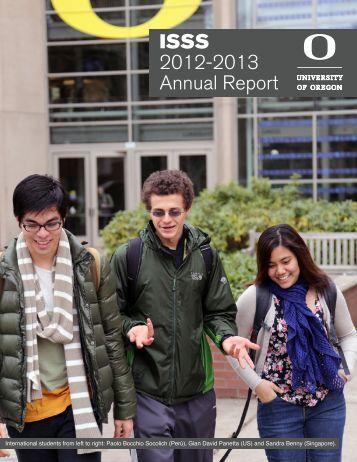 ISSS 2012-2013 Annual Report - International Affairs - University of ...