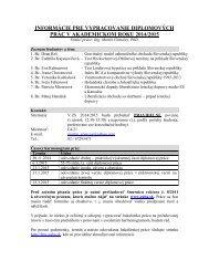 Informácie pre diplomantov 2013/2014