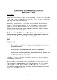 Enforcement Policy - Torbay Council