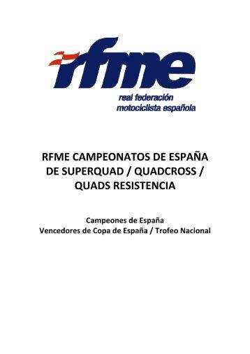 rfme campeonatos de españa de superquad / quadcross / quads ...