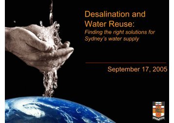 Desalination and Water Reuse:
