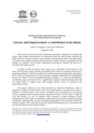 Literacy and empowerment: a contribution to the ... - unesdoc - Unesco
