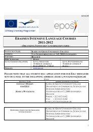 ERASMUS INTENSIVE LANGUAGE COURSES - Epos