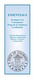 Essentials 2008:Essentials 2003.qxd.qxd - Colorado Department of ...