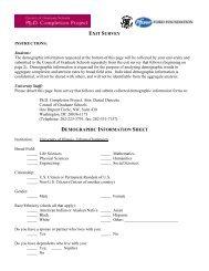 Exit Survey Templates - The Graduate College at Illinois