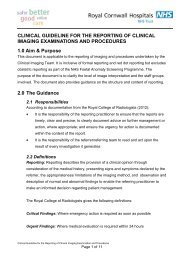 Clinical Guideline for the Reporting of Clinical Imaging Examination ...