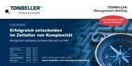 Veranstaltungsbroschüre - Tonbeller AG
