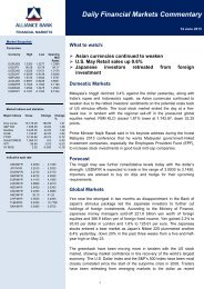 Daily Financial Markets Commentary - Alliance Bank Malaysia Berhad