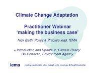 Nick Blyth (IEMA) - Climate Northern Ireland