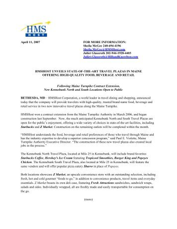 Printable PDF Version - HMSHost