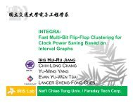 INTEGRA: Fast Multi-Bit Flip-Flop Clustering for Clock Power ... - ISPD