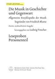 Die Musik in Geschichte und Gegenwart Leseproben Personenteil