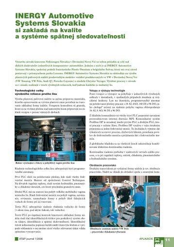 INERGY Automotive Systems Slovakia - ATP Journal