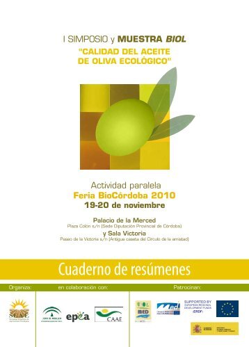 Cuaderno de resúmenes - Sociedad Española de Agricultura ...