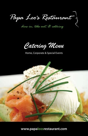 Home, Corporate & Special Events - Papa Leo's Restaurant