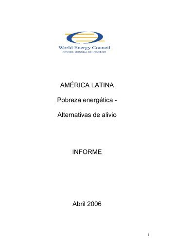 AMÉRICA LATINA Pobreza energética - World Energy Council