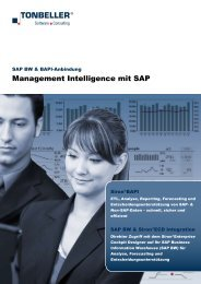 Management Intelligence mit SAP - Tonbeller AG
