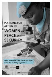 WOMENAND PEACEAND SECURITY - International Alert
