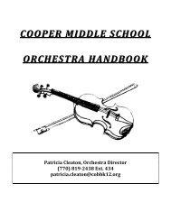 cooper middle school cooper middle school orchestra handbook ...